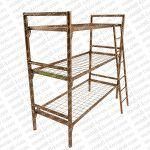 Трехъярусные металлические кровати для рабочих,кровати оптом, кровати дешево