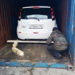 Железнодорожные перевозки автомобилей в контейнерах из Москвы по России.