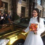 Аренда Зеркально-Золотого Мерседеса S-500 в Москве