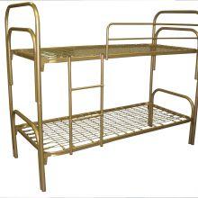 Качественные двухъярусные металлические кровати с ДСП