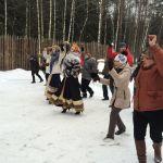 Яркий праздник  с фольклорным ансамблем  у барина